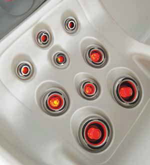 LED-Beleuchtung für Massagedüsen, rot